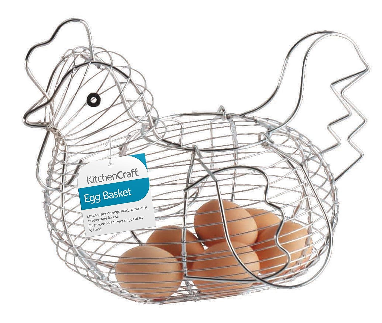 Amazon.com: Kitchencraft Chrome Plated Wire Large Chicken Basket ...