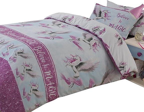 Copripiumino Singolo Rosa.Dreamscene Flying Unicorn Set Copripiumino Singolo Colore Rosa