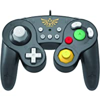 HORI Battle Pad (Zelda) - Manette USB style GameCube pour Switch - Officielle Nintendo