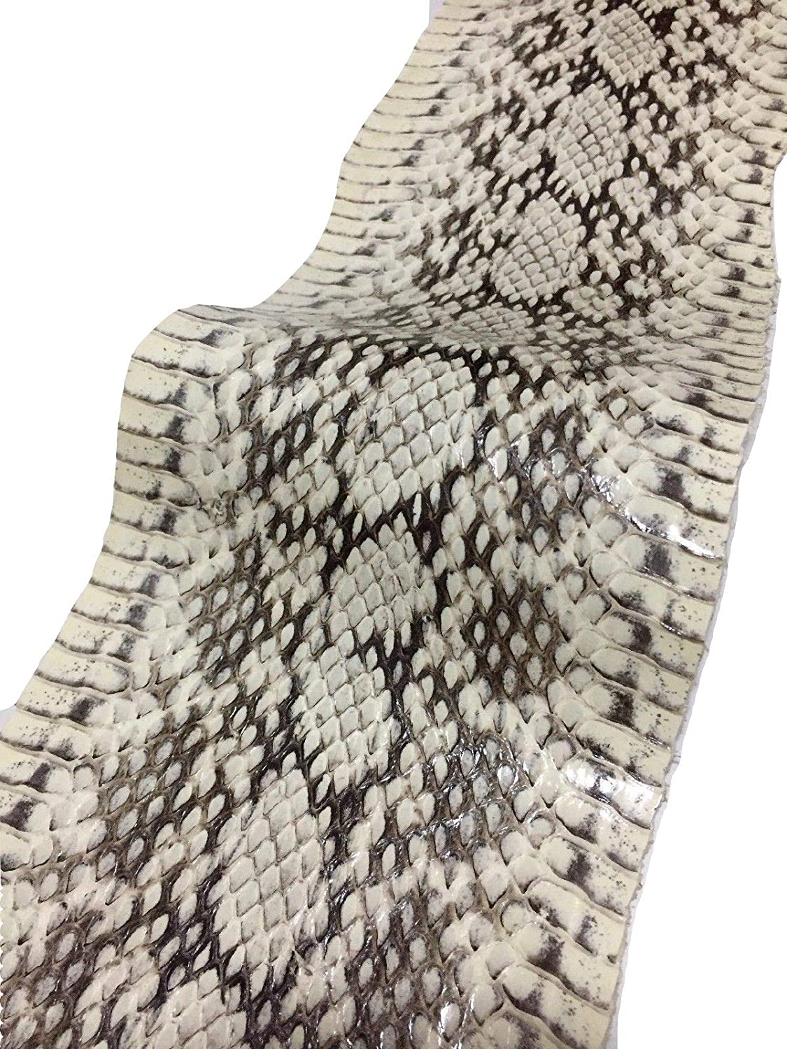 Asia Snake Skin Hide Leather Snakeskin Craft Supply White Glossy