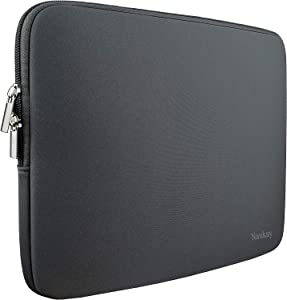 Laptop Sleeve Case,13-13.3 Inch Resistant Neoprene Laptop Sleeve/Notebook Computer Pocket Case/Tablet Briefcase Carrying Bag-(Grey)