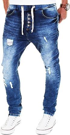 Pantalones vaqueros para hombre estilo deportivo, color azul azul 42