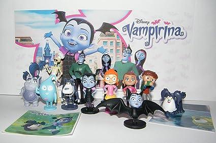 Amazon Com Disney Vampirina Deluxe Figure Set Of 14 Toy Kit With 12