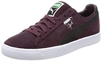 6902f07dbdd1 Puma CLYDE B C Purple Suede Leather Unisex Sneakers Shoes  Amazon.co ...