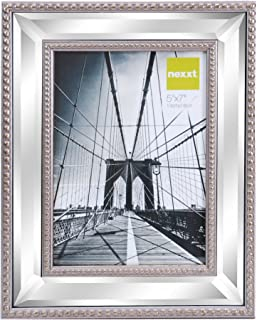 kiera grace sutton mirrored picture frame 5 by 7 inch champagne - Mirrored Picture Frames