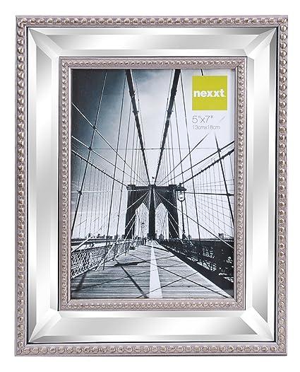 Amazon.com: Kiera Grace Sutton Mirrored Picture Frame, 5 by 7 Inch ...