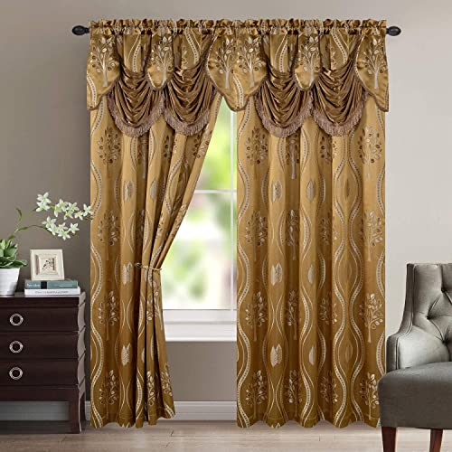 Luxury Home Textile Aurora Tree Leaf Jacquard Window Panel