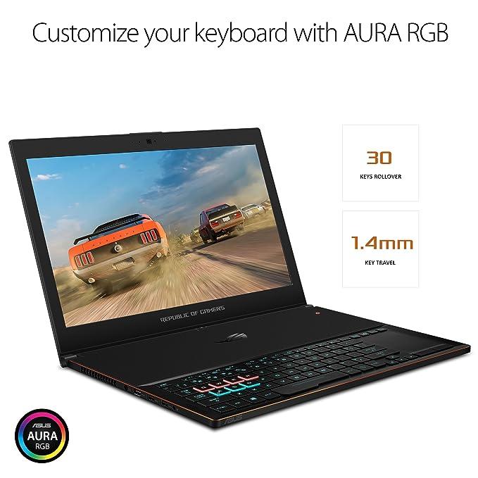 Asus ROG Céfiro GX501 15,6€ FullHD 120Hz ultraportátil portátil para juegos, GTX 1070, Core i7, 256 GB PCIe SSD, 16 GB DDR4: Amazon.es: Electrónica