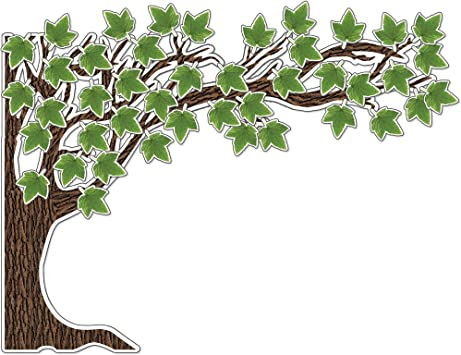 Amazon Com Schoolgirl Style Woodland Whimsy Bulletin Board Set Large 6 Piece Tree Cut Out With Green Cardstock Leaves Classroom Or Homeschool Wall Décor 49 Pc Office Products