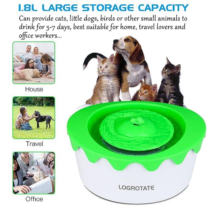 Amazon.com: Logrotate fuente de mascotas automático 1.8L ...