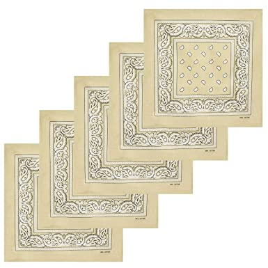 Lot de bandanas 100% Coton paisley foulard fichu 20 couleurs au choix Lot 5  5f58504ec86