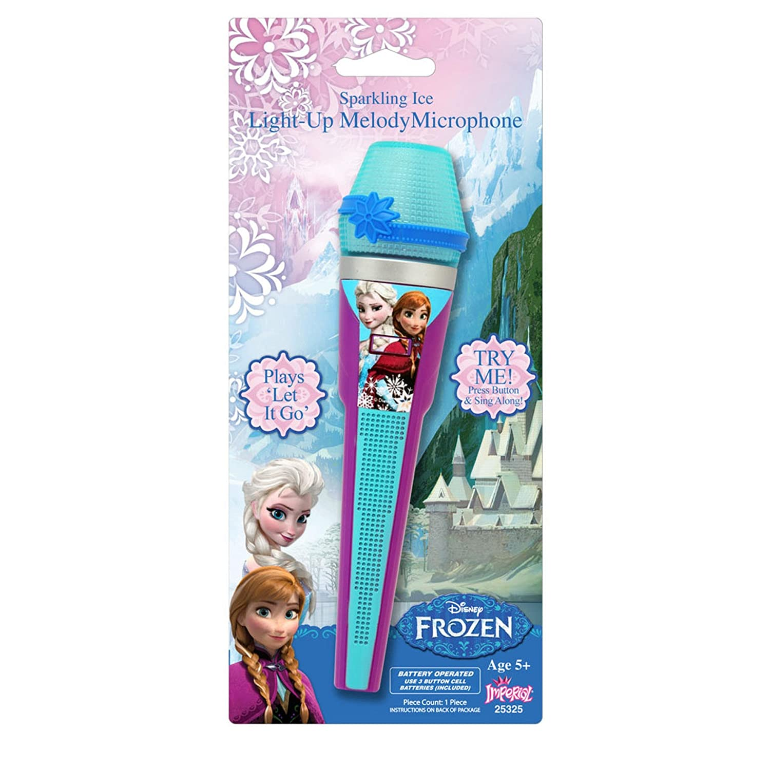 Disney Frozen Light Up Music Melody Microphone Do You Want To Build A Snowman with stickers