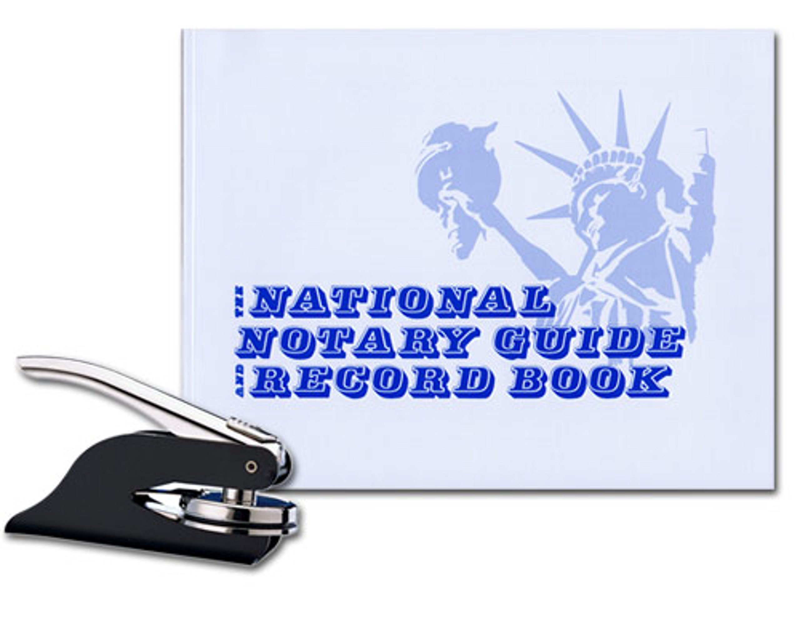Black Pocket Seal Embosser; Notary Record Book Bundle | Massachusetts