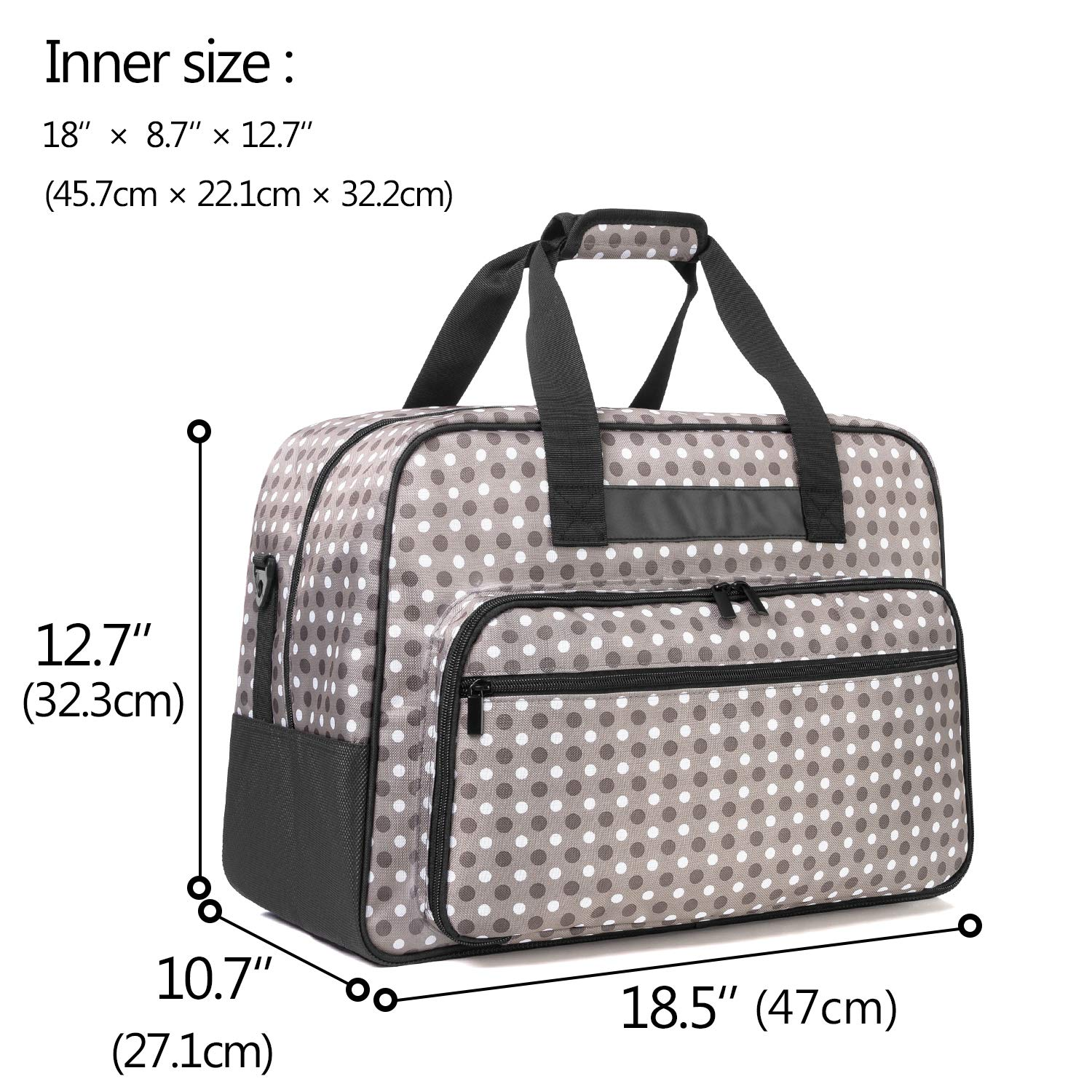 Purple Universal Overlock Sewing Machine Tote Bag with Anti-Slip Padded Bottom for Most Standard Overlocker Machine and Supplies Yarwo Serger Carrying Case
