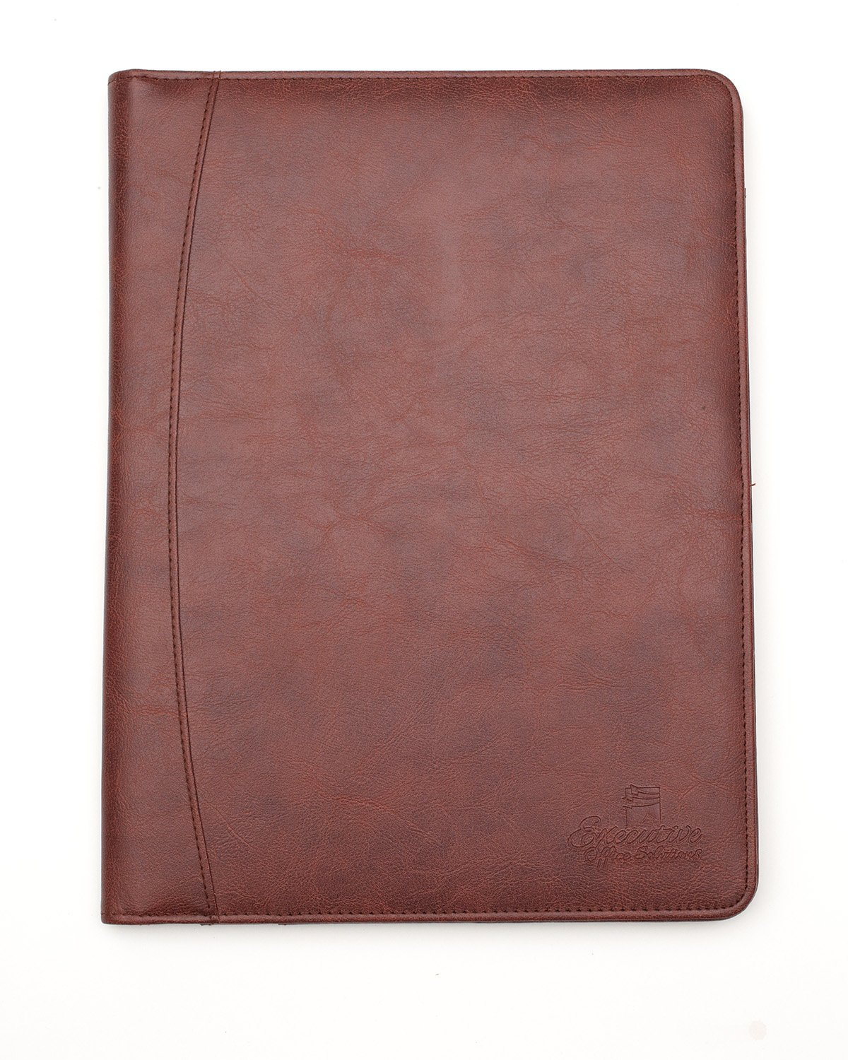 Professional Business Padfolio/Portfolio Case Organizer Resume/Interview Folder Synthetic Leather With Refillable Letter Size Writing Pad - Brown