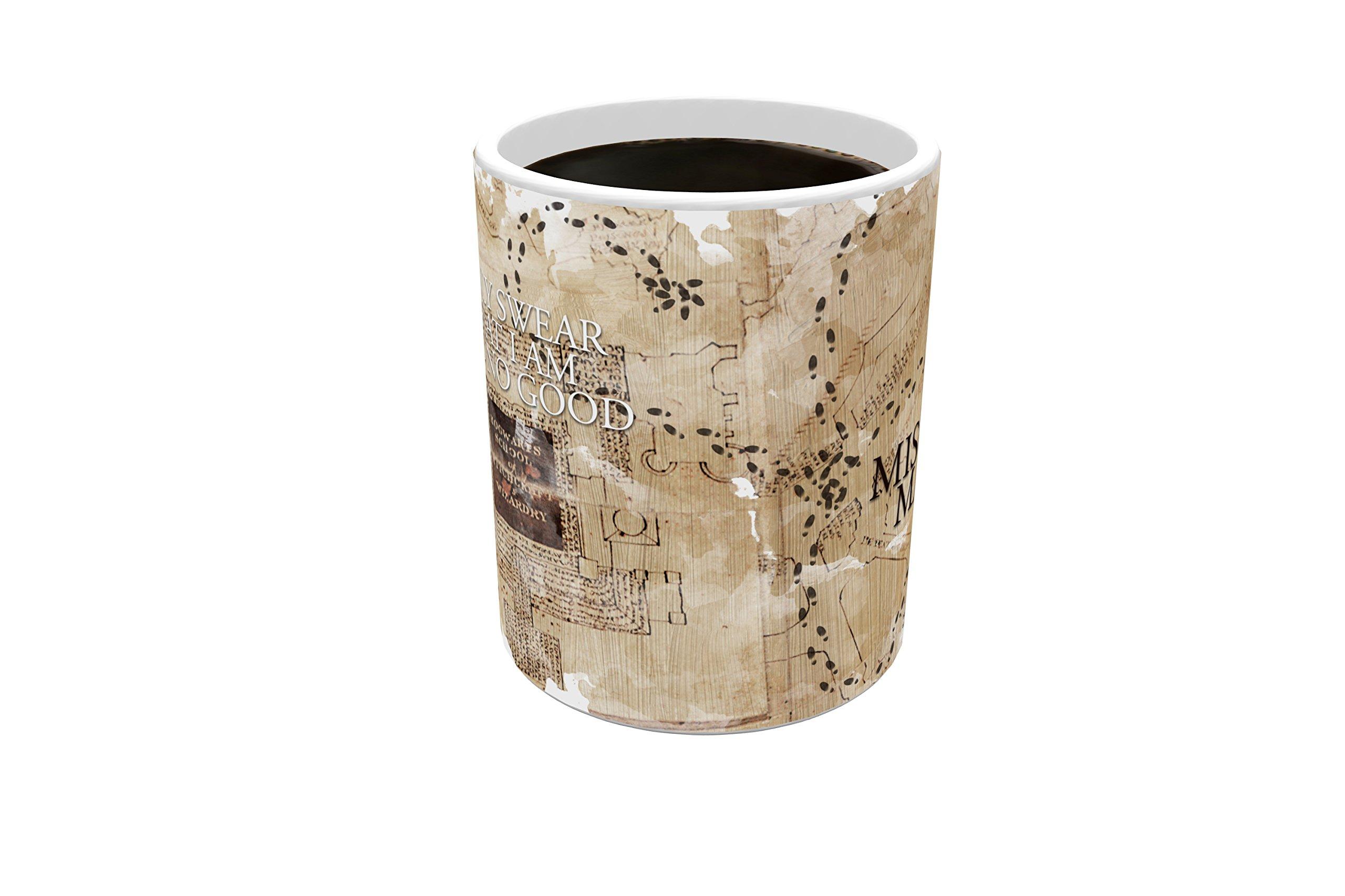 Morphing Mugs Harry Potter Hogwarts Marauders Map Heat Reveal Ceramic Coffee Mug - 11 Ounces by Morphing Mugs (Image #4)