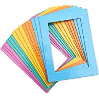 Juvale 15-Pack Magnetic Picture Frames for Refrigerator, 5 Assorted Colors, Fits 4x6 Photos