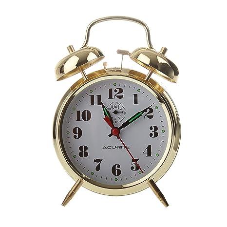 Amazon.com: AcuRite 15605 Vintage individual Bell Reloj ...