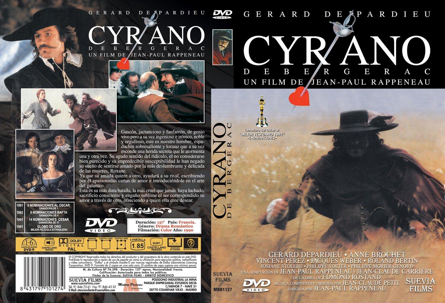 Cyrano De Bergerac [DVD] [Reino Unido]: Amazon.es: Gérard Depardieu, Anne Brochet, Vincent Perez, Jacques Weber, Roland Bertin, Philippe Morier-Genoud, ...