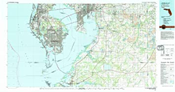 St Pete Florida Map.Amazon Com Florida Maps 1981 St Petersburg Fl Usgs Historical