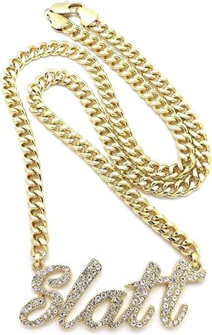 Naomi 7mm or 9mm 18k Gold Plated Chain Link Necklace Huge Heavy Long Rope Stainless Steel Mens Womens Fashion Jewelry Accessories KN107 Gold 65cm by 9mm