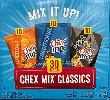 Chex Mix Classics – Bolsas de Cheddar – Tradicional – Bold ...