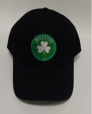 Boston Hats by Belong Clothing (Black Boston Logo on Adjustable Baseball Cap)