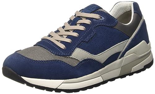 Geox U Goomter C, Zapatillas para Hombre, Azul (Dk Royal/anthracitec4r9a), 46 EU