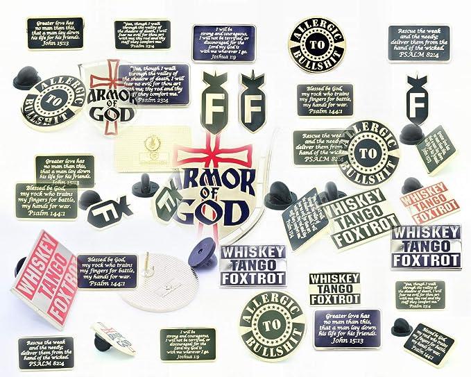 Bastion Tactical Morale Enamel Die-Struck Brass Lapel Pin Brooch Psalm 82:4