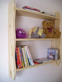 Back. 70cm H Pine Shelves, Childrens Bedroom Shelves, Childrens Furniture,  Toy Storage, Nursery