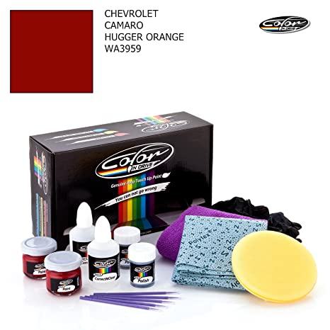 Chevrolet Camaro Hugger Orange Wa3959 Color N Drive Touch Up Paint System For Paint Chips And Scratches Basic Pack