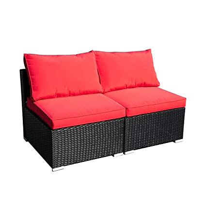 Amazon.com: Muebles de exterior para patio de mimbre ...