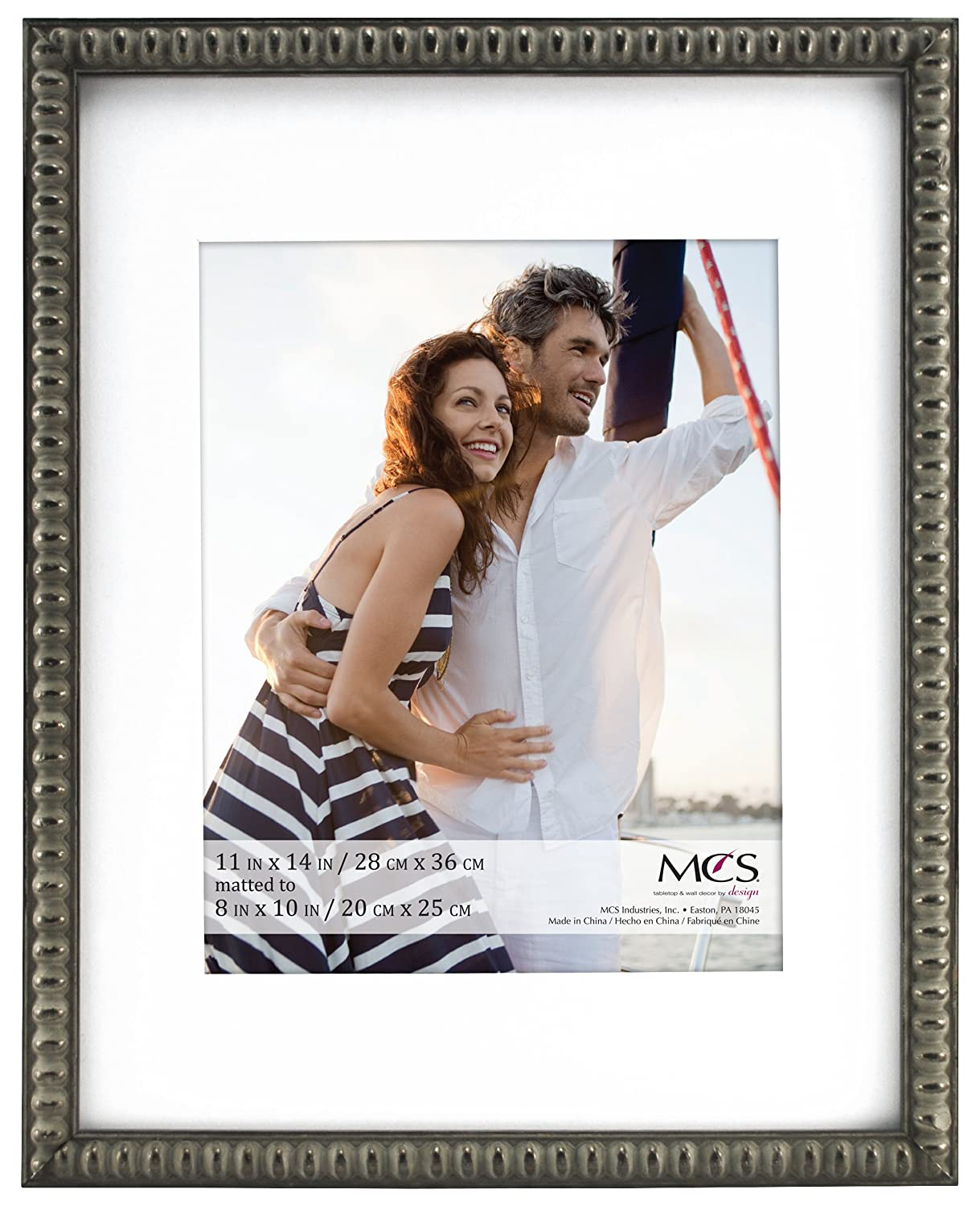 Amazon.de: MCS 11 x 14 Passepartout Rahmen, Zinn-Finish, 27, 9 x 35 ...