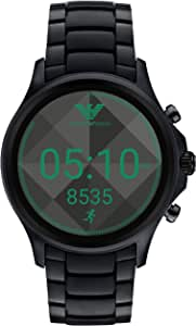 Emporio Armani Men's Digital Watch smart Display and Stainless Steel Strap ART5002