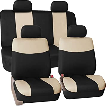 FH Group Stylish Cloth Full Set Car Seat Covers SUV Van Truck Fit Most Car