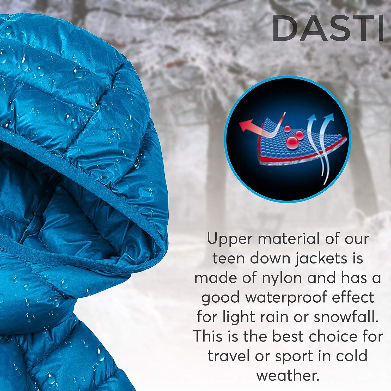 DASTI Kids Coat Winter Hooded Kid Packable Down Jacket Bubble Childrens Jacket