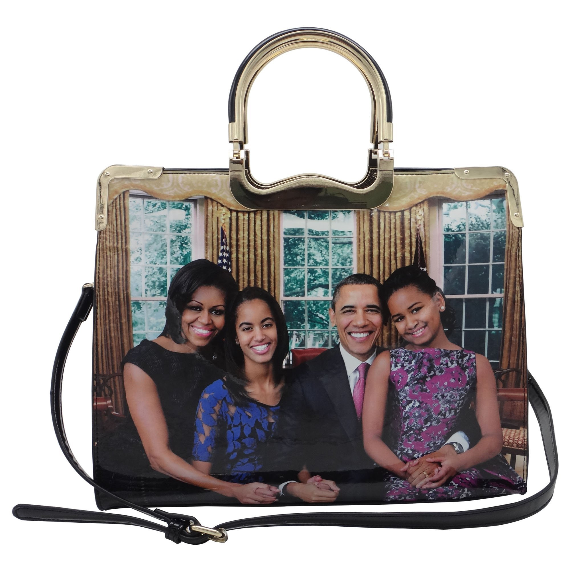 Michelle Obama Family Style Metal Handle Tote