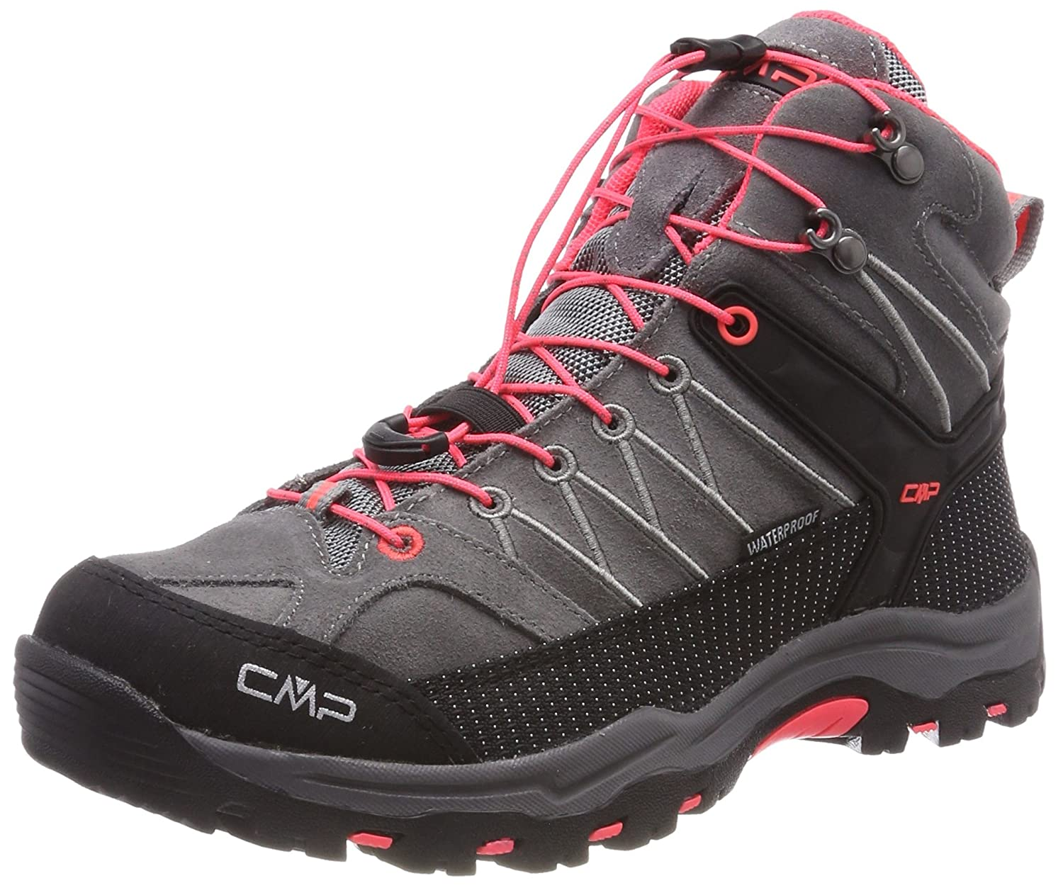 CMP Rigel Mid WP, Zapatos de High Rise Senderismo Unisex Adulto 41 EU|Gris (Grey-red Fluo)