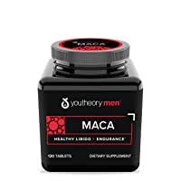 Youtheory Men's Maca Advanced with Peruvian Ginseng, 120Count (1 Bottle)