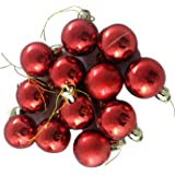 FunRobbers Christmas Decoration Hanging Red Balls Small- Pack of 12