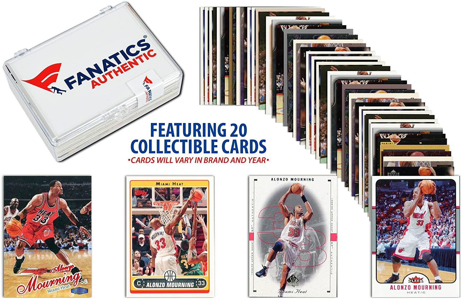 Alonzo Mourning Miami Heat Collectible 15 Card Lot - Basketball Player Sets Fanatics Authentic