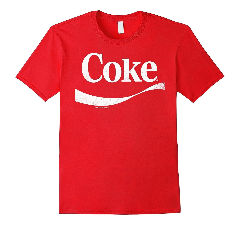 Coca-Cola Vintage White Coke Logo Graphic T-Shirt-T-Shirt