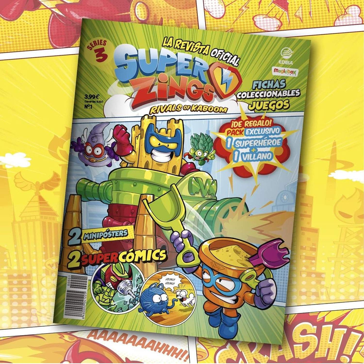 Supezings Rivals of Kaboom Serie 3 Revista Oficial Pack ...