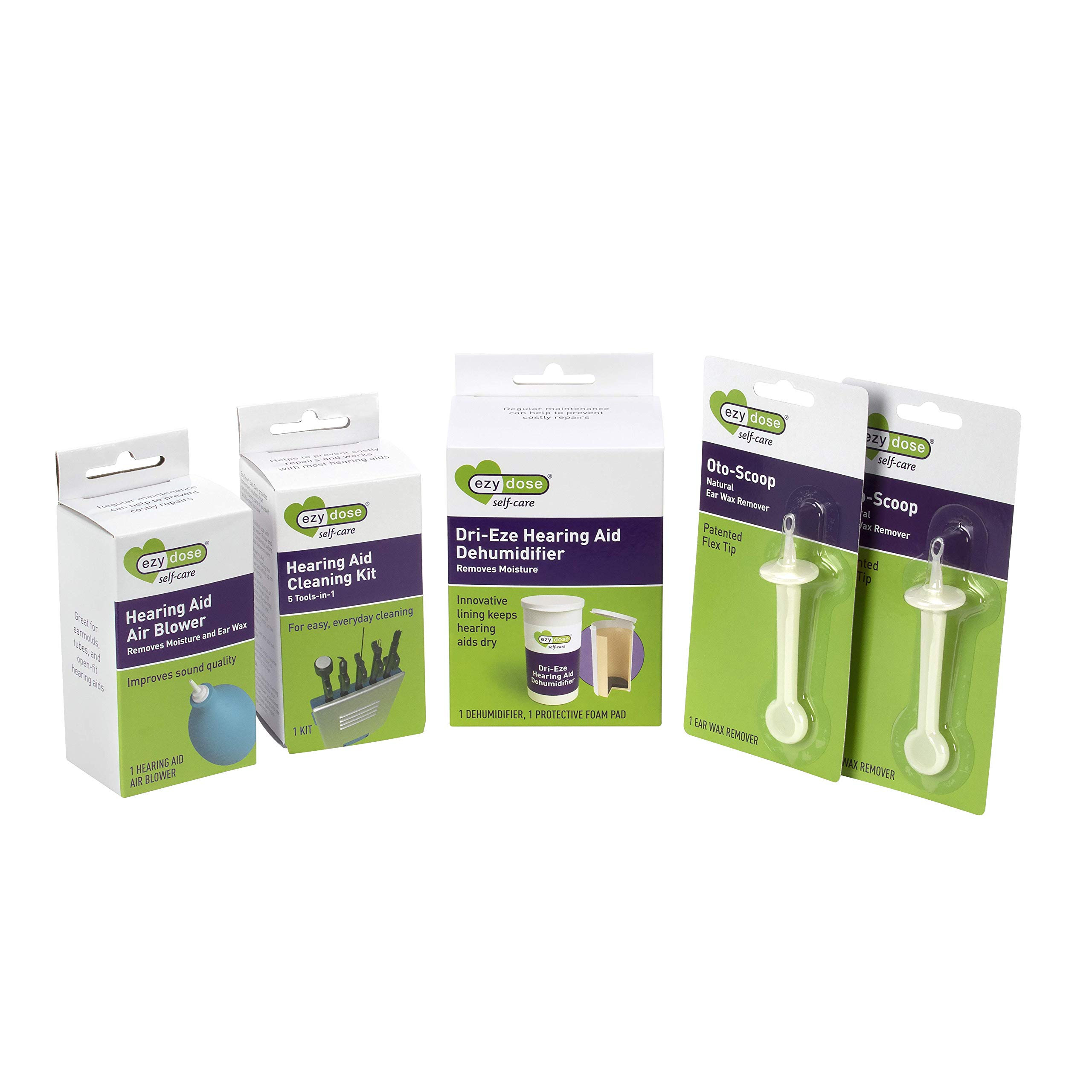 Ezy Dose Hearing Aid Cleaning & Care Kit (Bonus Pack of 5 Items) by EZY DOSE