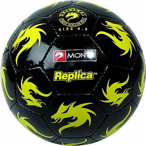 Monta REPLICA II - Balón de fútbol, color amarillo/negro, talla 4 ...