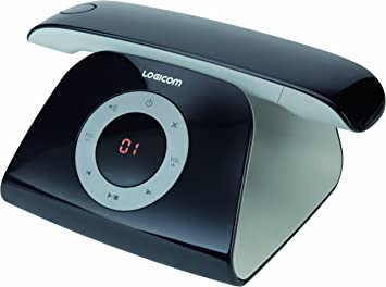 Logicom Retro - Teléfono inalámbrico (con contestador), color negro (importado): Amazon.es: Electrónica