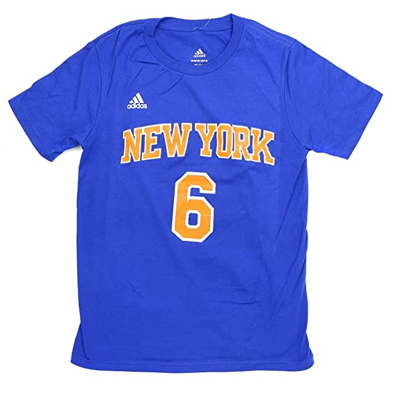 adidas Kristaps Porzingis Nueva York Knicks Juventud Azul Nombre y ...