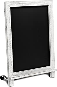 "Rustic Whitewash Tabletop Chalkboard Sign / Hanging Magnetic Wall Chalkboard / Small Countertop Chalkboard Easel / Kitchen Countertop Memo Board / 12"" x 17"" in. Weddings, Birthdays, Baby Announcements"