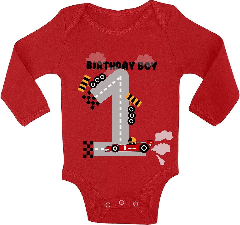 Awkward Styles Birthday Boy Baby Bodysuit Long Sleeve Car 1st Birthday Party