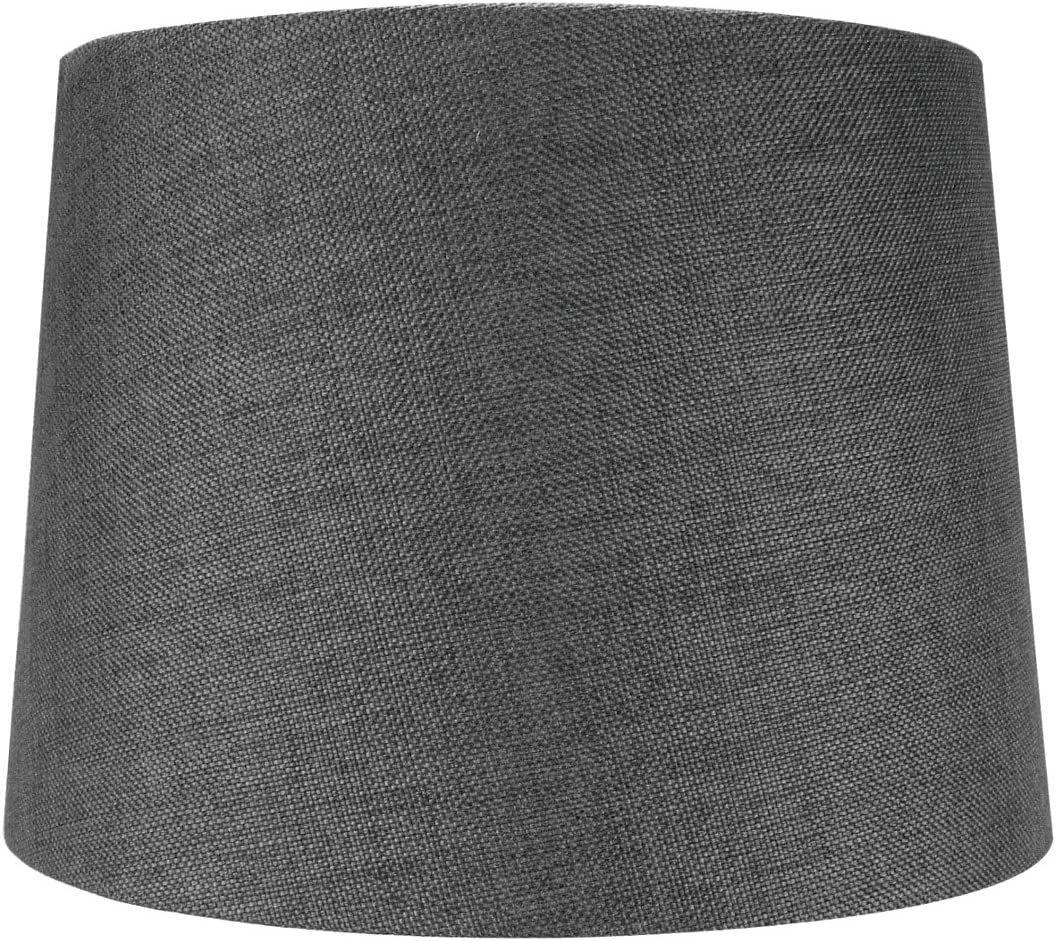 2 Light Plug in Pendant Light by Home Concept – Hanging Swag Lamp Granite Grey Burlap with Diffuser – Perfect for Apartments, dorms, no New Wiring Needed Grey, White Two-Light